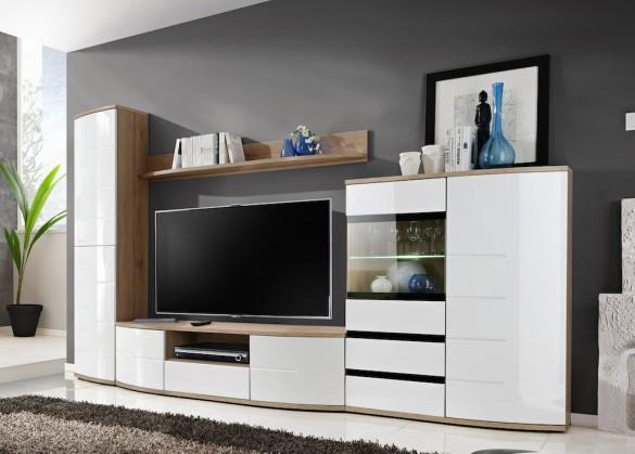 Obývací stěna Obývací stěna Arvid (san remo, bílá)