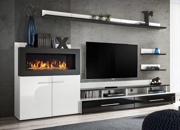 Obývací stěna Obývací stěna Haldis (bílá, černá)