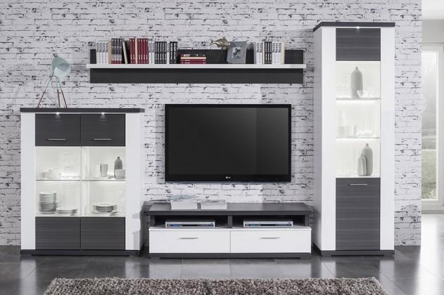 Obývací stěna obývací stěna portoriko 01 (bílá/grafit)
