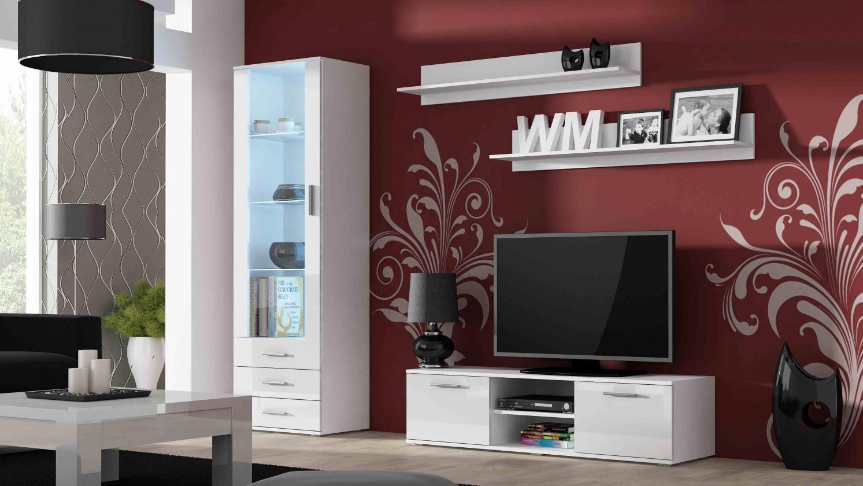 Obývací stěna Soho HJ20 - Obývací stěna (bílý mat/bílý vysoký lesk )