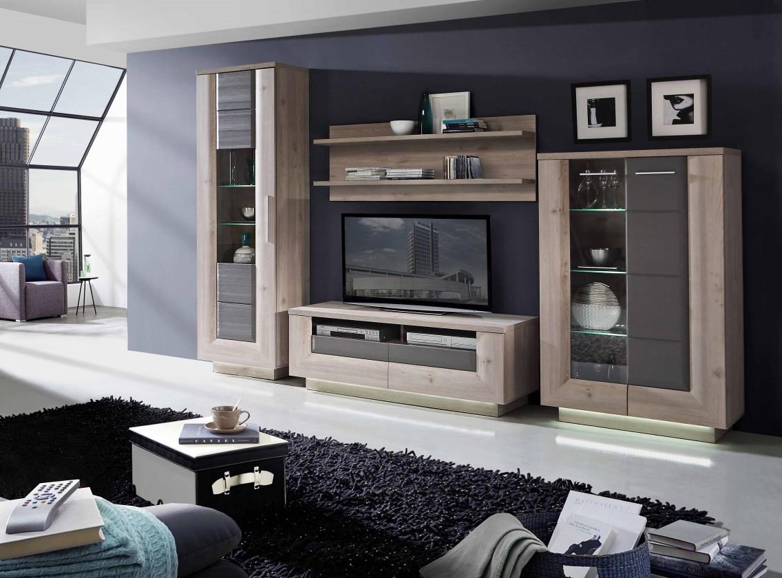 Obývací stěna Stairs - Obývací stěna, TV stolek, police vitrína, skříň