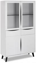 Obývací vitrína Sens (bílá, černá)