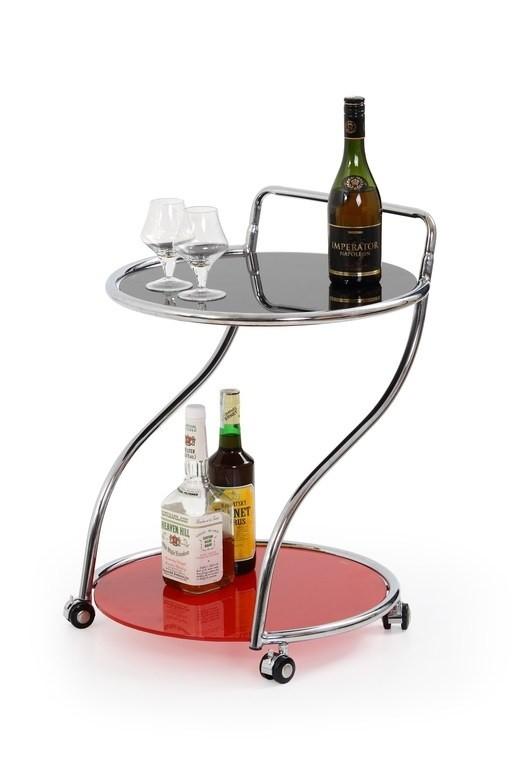 Odkládací stolek Bar 6 (Černo-červený)