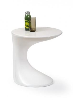 Odkládací stolek Delta (Bílá)