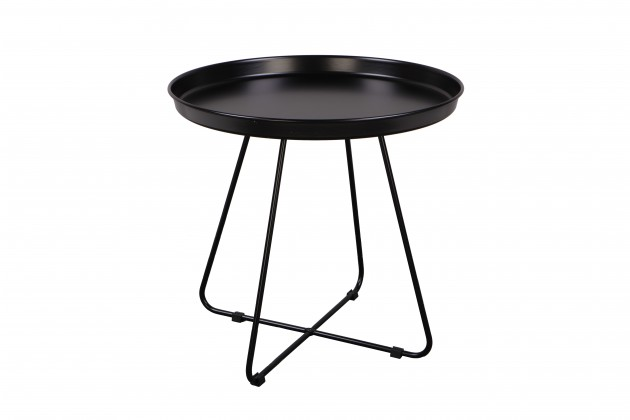 Odkládací stolek Konferenční stolek Pogorze - L (černý)