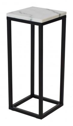 Odkládací stolek přístavný stolek accent - čtverec, nižší (mramor, černá)