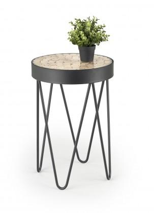 Odkládací stolek Přístavný stolek Naturo (hnědá)