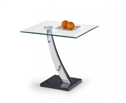 Odkládací stolek Serena (Sklo/Chrom/Mramor)