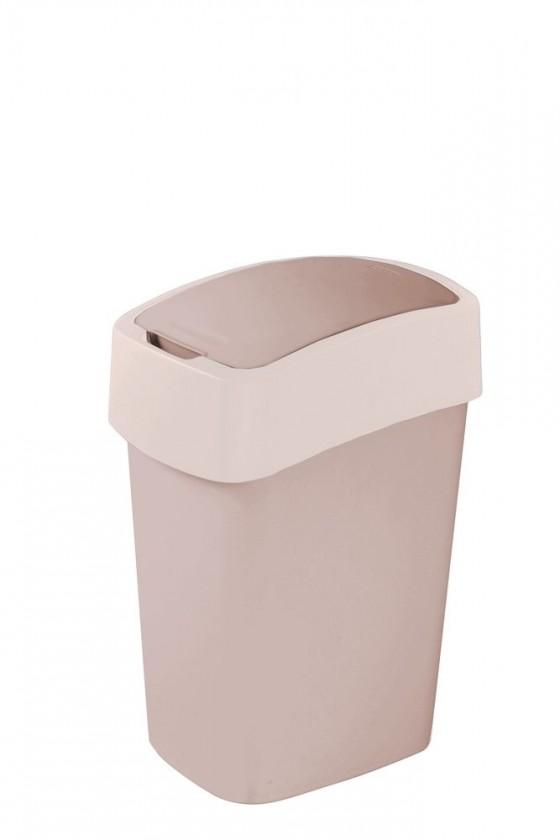 Odpadkový koš FLIPBIN, 50l (plast, šedo-béžový)