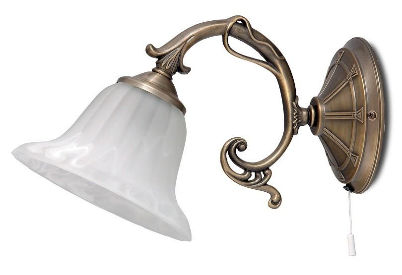 Orchidea - Nástěnné osvětlení, 8551 (bronzová/bílá alabastrová)