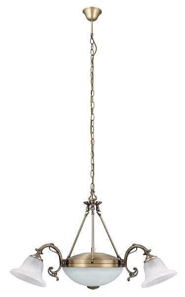 Orchidea - Stropní osvětlení, 8553 (bronzová/bílá alabastrová)