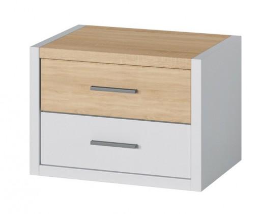 Oslo - Noční stolek (dub sonoma/bílá)