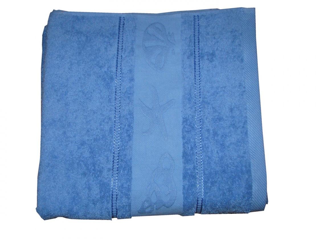 Osuška BALT 70x140 kr.modrá