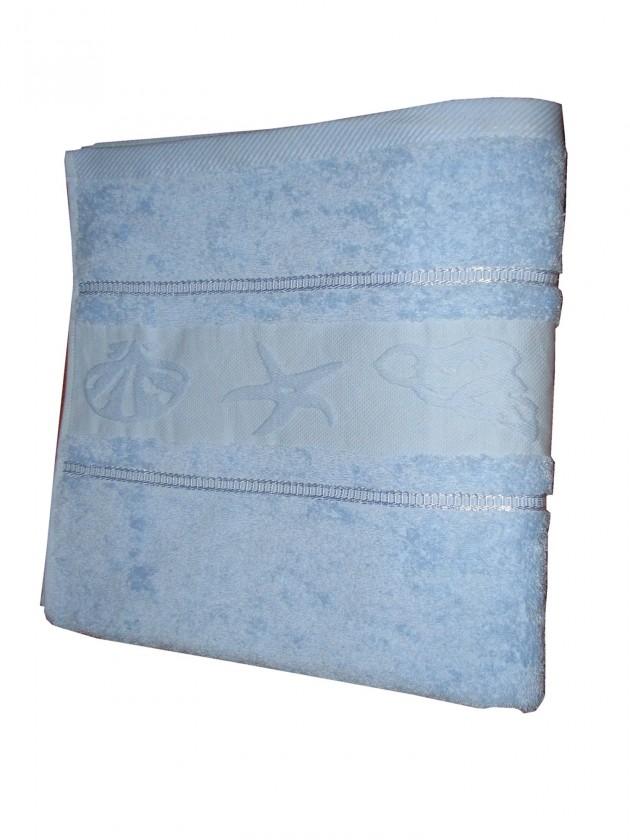 Osuška BALT 70x140 sv.modrá