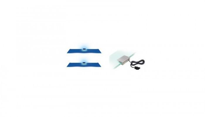 Osvětlení osvětlení 2 led pro vitrínu 120 (modrá)
