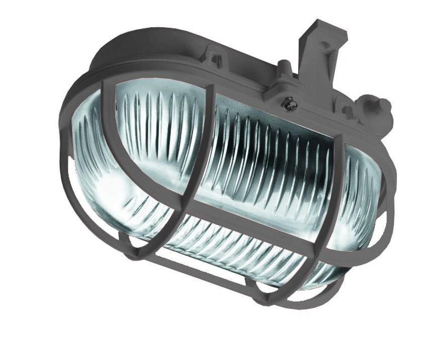 Oval - Stropní svítidlo, E27, 60W (šedá)