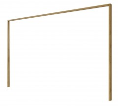 Padua - Paspartový rám pro skříň, š. 250 cm (dub balken)