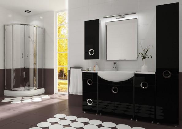 Palermo - Koupelnová sestava (černá,boky bílé)