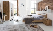 Pamela - Komplet postel 180,skříň klasik,stolky (tmavý dub)