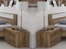 Pamela - Noční stolek 2ks (tmavý dub)