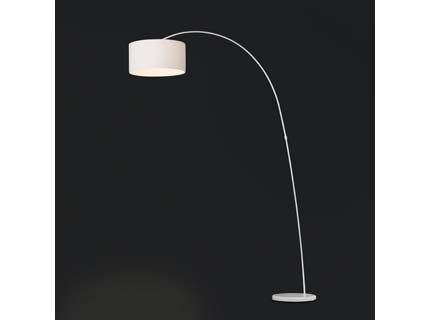 Papua - Podlahová lampa (bílá)