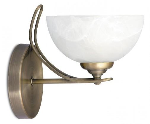 Pearl - Nástěnné osvětlení, 8521 (bronzová/bílá alabastrová)