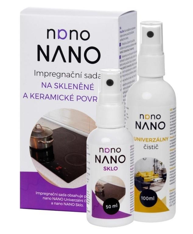 Péče o nábytek Nano - čistící a impregnační sada na skleněné povrchy (100+50 ml)