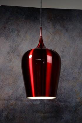 Petra - stropní osvětlení, 60W, E27 (červená)