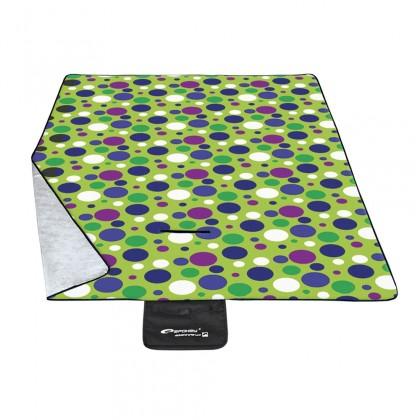 Picnic circle - Pikniková deka 180x210 (zelená, modrá, fialová)