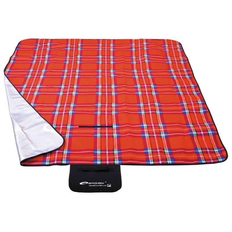 Picnic tartan - Pikniková deka 150x180 (červená , modrá)