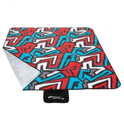 Picnic zigzac - Pikniková deka 150x180 (modrá, červená, bílá)