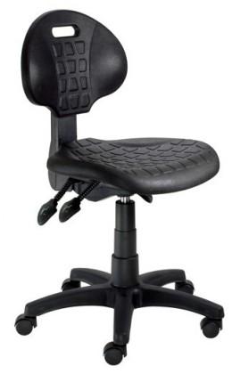 Piera - Dílenská židle (E-asynchro, černá)