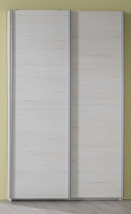 Pine Aurélio - Skříň typ 90, posuvné dveře (bílá)