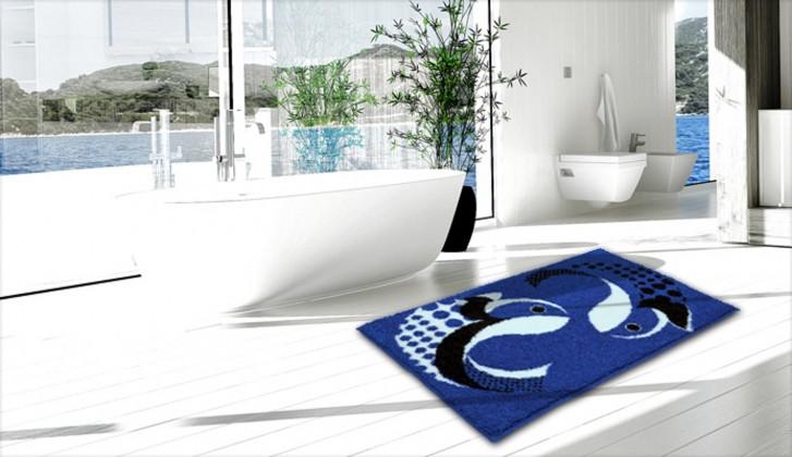 Pisces - Koupelnová předložka 60x90 cm (světlá královská modrá)