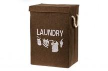 Plátěný koš na prádlo (hnědá)