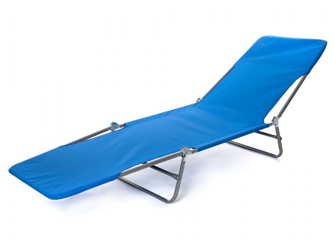 Plážové lehátko II (modrá)