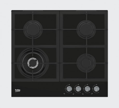 Plynová varná deska beko hilw 64225s, speciální wok hořák