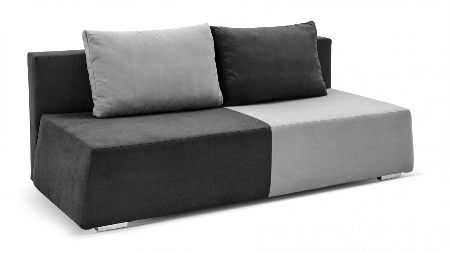 Pohovka Color - Pohovka, rozkládací, úložný prostor (šedá)