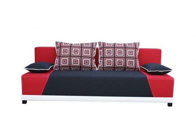 Pohovka Rosso - Pohovka (mura 100/mura 60/polštáře vzor 196/1 červený)