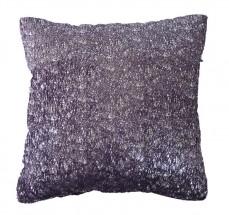 Polštář DP135 (45x45 cm, fialová, stříbrná)