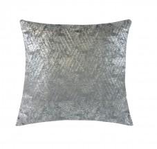 Polštář DP153 (45x45 cm, tmavě šedá, stříbrná)