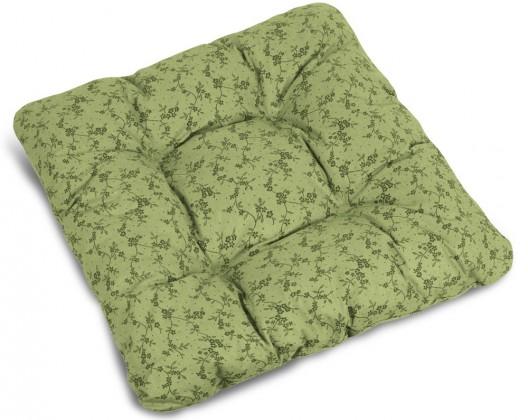 Polstr Adéla - Sedák prošívaný, 40x40 (tmavě zelená)