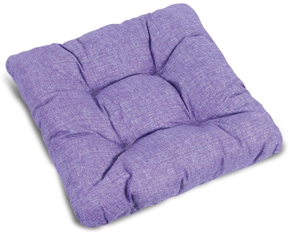 Polstr Adéla - Sedák prošívaný, 40x40 UNI (fialový)