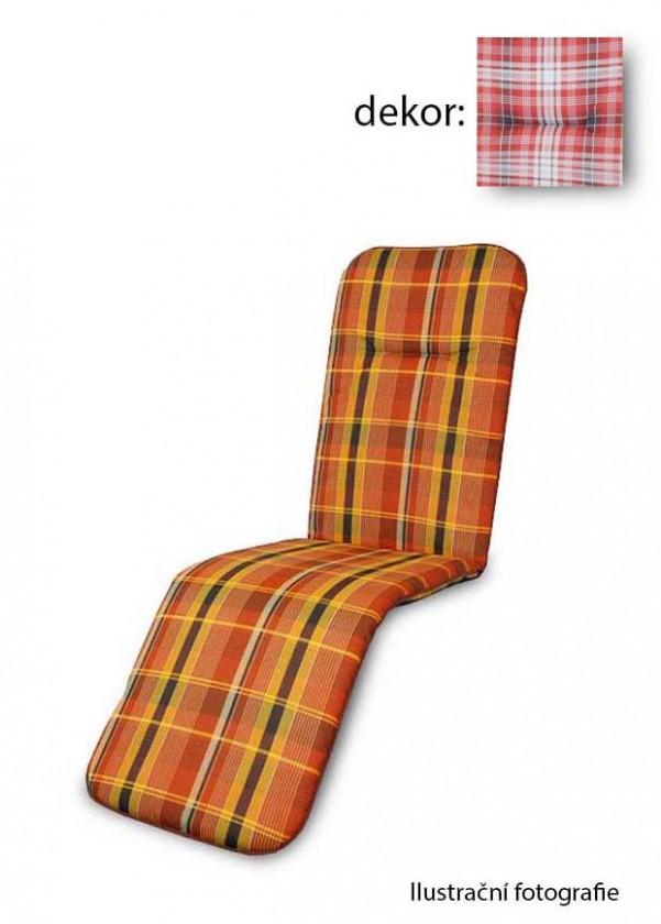 Polstr Basic 5901 - Polstr, relax (červené káro)