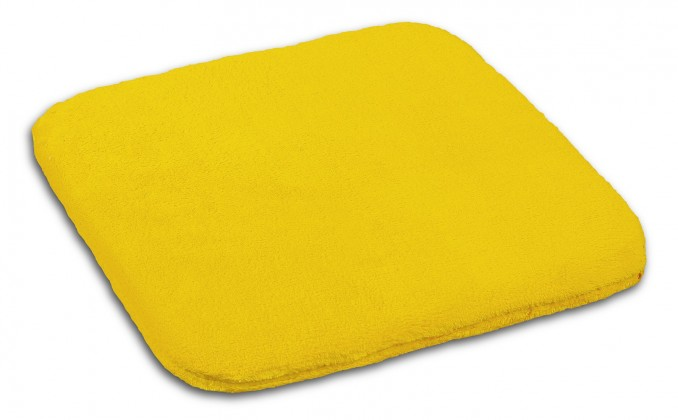 Polstr Korall micro - 40x40cm (žlutá)