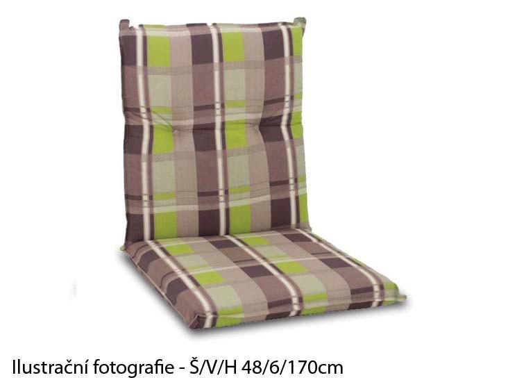 Polstr Living 2102 - Polstr, relax (zelenohnědé káro)