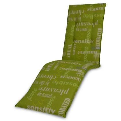 Polstr Living 5105 - Polstr, relax (zelené s nápisy)