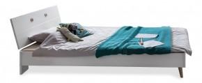 Postel Billund - 90x200 (alpská bílá, dub)