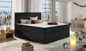 Postel Boxspring Bolero 160x200, černá, vč. matrace a úp