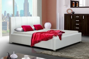 Postel I - bílá, matracový rám, úložný prostor